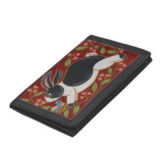 Folk Rabbit Tri-fold Wallet