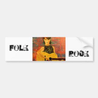 Folk Rock Bumper Sticker