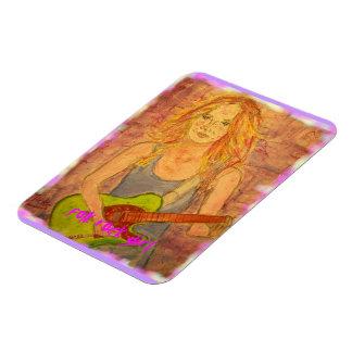 folk rock girl art magnet