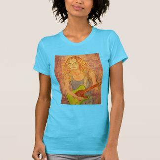 folk rock girl playin' electric T-Shirt