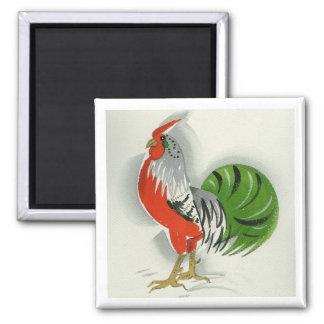 Folk Rooster #9 Magnet