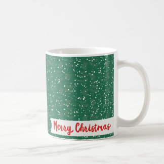 Folk Santa Claus Snowy Merry Christmas Coffee Mug