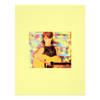 folk singer girl concert flyer