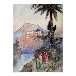 Folk Tales of Bengal by Warwick Goble Poster