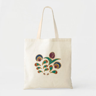 Folk Tulip Budget Tote Bag