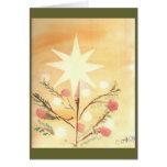Folkart Christmas Star Card
