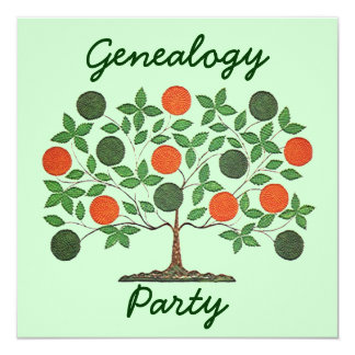 Folkart Family Tree Genealogy Meetings Invitations