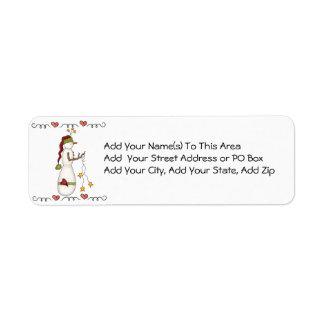 Folkart Snowman Return Address Labels
