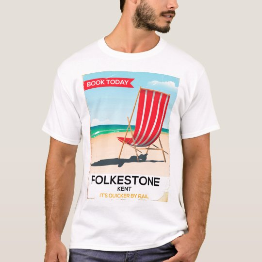 Folkestone Kent vintage seaside poster T-Shirt