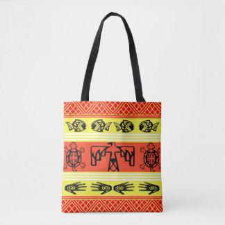 Folklore design tote bag