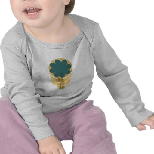 FOLKLORE FLOWER BABY SHIRT GOLD