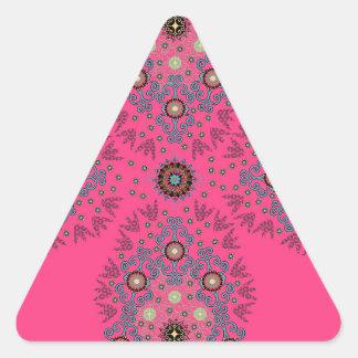 Folksy Jewel Triangle Stickers