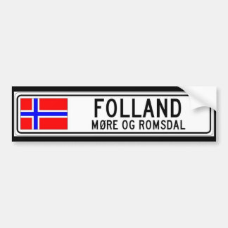Folland, More Og Romsdal Bumper Sticker