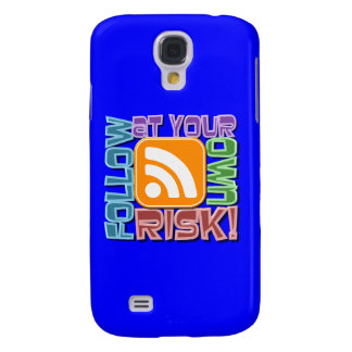Follow At Your Own Risk RSS Icon Button Design Galaxy S4 Cover