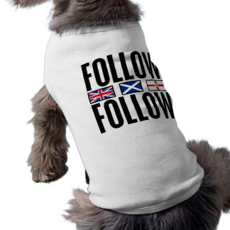 Follow Follow 3 Flags Sleeveless Dog Shirt