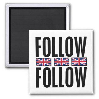 Follow Follow, 3 Flags Square Magnet