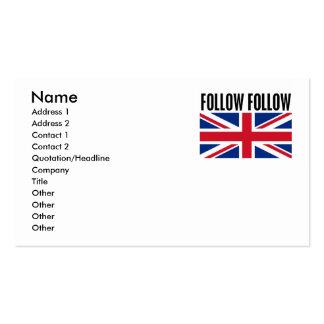 Follow Follow Pack Of Standard Business Cards