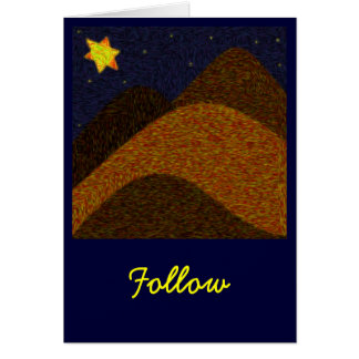 Follow Greeting Card