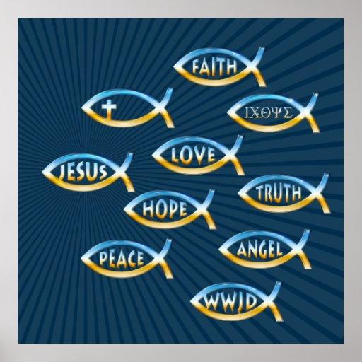 Follow Him  - Christian Poster