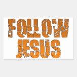 Follow Jesus Christian Stickers