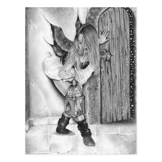 Follow Me Fairy Christmas Postcard