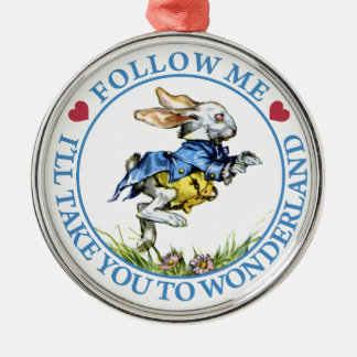 Follow Me. I'll Take You To Wonderland! Christmas Ornament