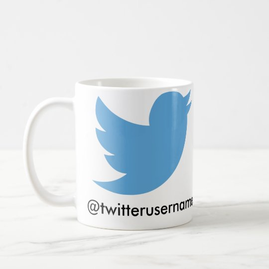 Follow Me On Twitter (Customisable Username) Coffee Mug