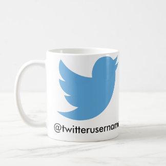 Follow Me On Twitter (Customizable Username) Coffee Mug