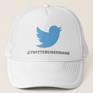 Follow Me On Twitter (Customizable Username) Trucker Hat