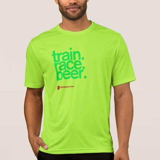 FOLLOW ME TO BEER Running Tech T T-Shirt