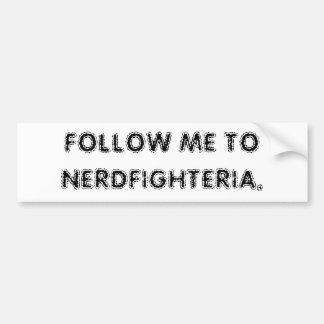 Follow me to Nerdfighteria. Bumper Sticker