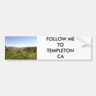 FOLLOW ME TO TEMPLETON CA CAR BUMPER STICKER