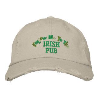 Follow Me to the Irish Pub Funny Irish Embroidered Cap