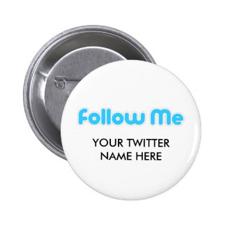 follow me (twitter) 6 cm round badge
