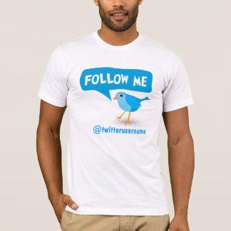 Follow Me Twitter Blue Bird Men's T-Shirt