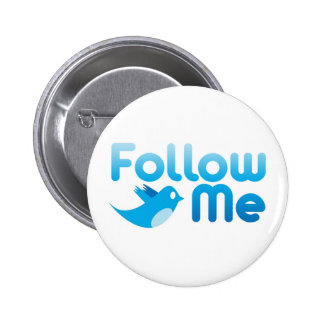 Follow Me Twitter Mr Funny Parody 6 Cm Round Badge