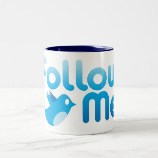 Follow Me Twitter Mr Funny Parody Mug