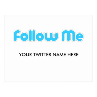 follow me (twitter) postcard