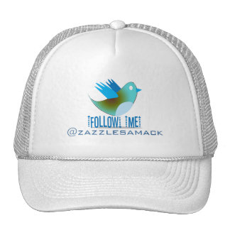 Follow Me YOUR Twitter Address Mesh Hat