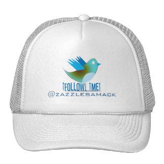 Follow Me YOUR Twitter Address Trucker Hat