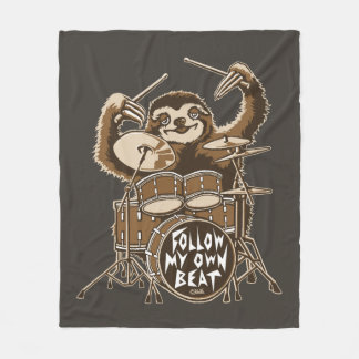 Follow my own beat fleece blanket