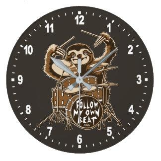 Follow my own beat large clock