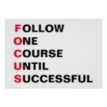 Follow one course until successful poster