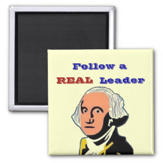 Follow REAL Leader Square Magnet