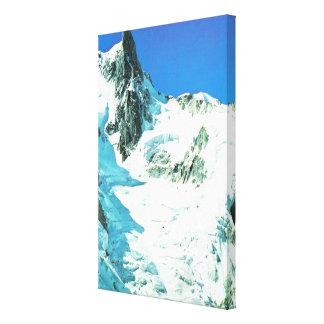 Follow the glacier down the mountain canvas print
