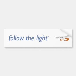 Follow the Light Bumper Sticker