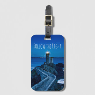 Follow the Light Lighthouse Luggage Tag