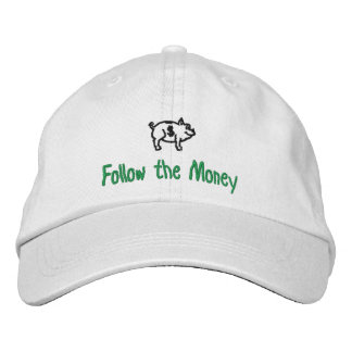 Follow the Money Piggy Bank Cap