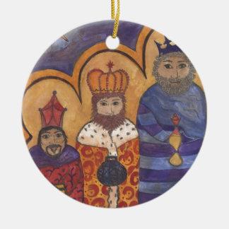 Follow the Star Round Ceramic Decoration