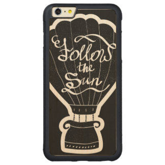 Follow The Sun Carved Maple iPhone 6 Plus Bumper Case